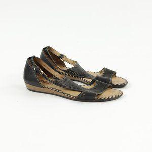 PIKOLINOS Leather Gladiator Sandals Ankle Strap